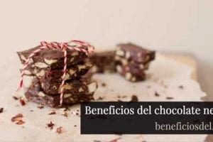 beneficios del chocolate negro